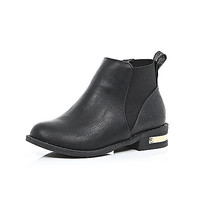 River Island Girls black Chelsea boots