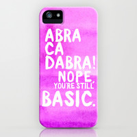 Abracadabra iPhone & iPod Case by Sara Eshak