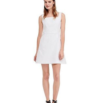 Tory Burch Pique Square Neck Dress