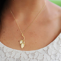 Calla Lilly Necklace by janiecox on Etsy