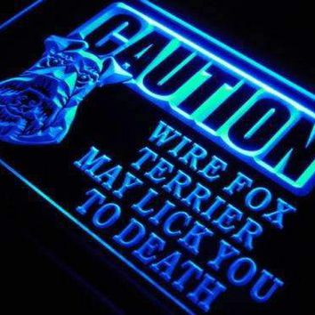 Caution Wire Fox Terrier Neon Sign (LED)