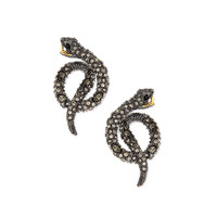 Elements Coiled Serpent Earrings - Alexis Bittar