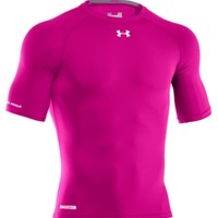 Under Armour Men's Power In Pink HeatGear Sonic Half Sleeve Compression Shirt