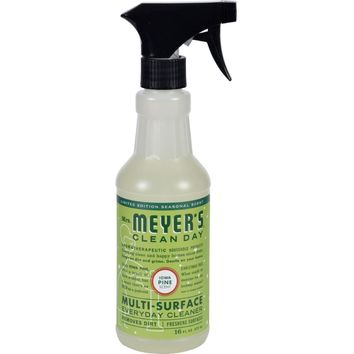 Mrs. Meyer's Multi Surface Spray Cleaner - Iowa Pine - 16 Fl Oz - Case Of 6