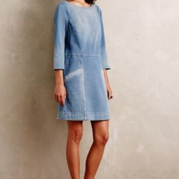 AG Denimknit Cocoon Dress in Tinted Denim Size: