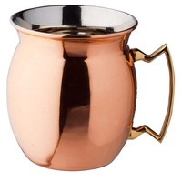 S/2 Solid Copper Flared Moscow Mule Mugs
