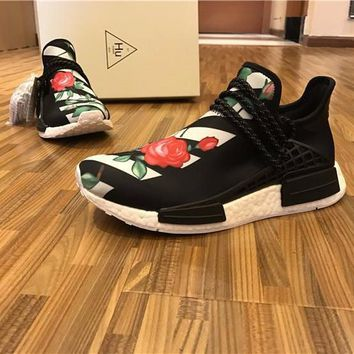Best Online Sale OFF WHITE x Pharrell Williams  x Adidas PW HU Human Race NMD Boost Sport Running Shoes Classic Casual Shoes Sneakers