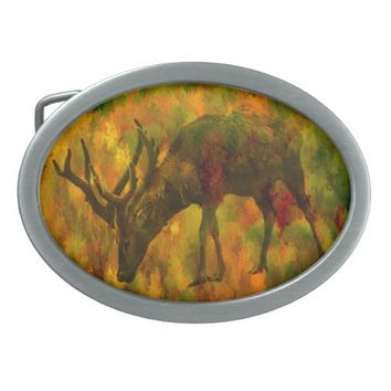 Camouflage Deer Belt Buckle