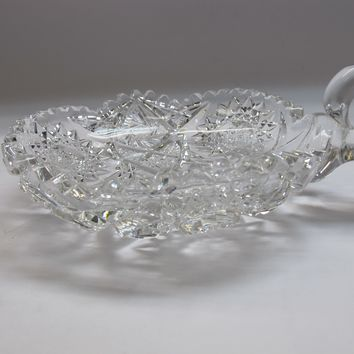 "American Brilliant Period 6"" Nappy cut glass Antique auction"