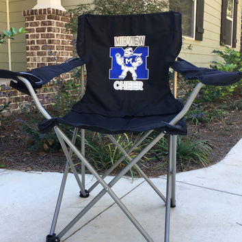 Personalized Cheer Coach's chair, Custom Coach's Chair, Tailgating Chair, Sports Team Chair, Personalized Chairs