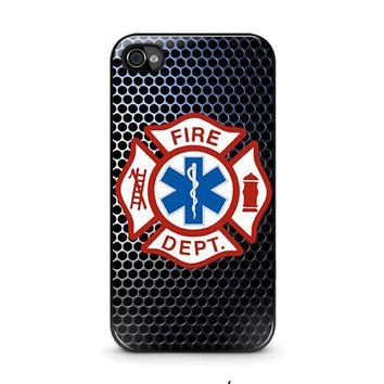 emt ems fire department iphone 4 4s case cover  number 1
