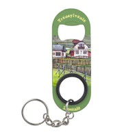 Transylvania, Romania, Picturesque Painted Scenery Keychain Bottle Opener