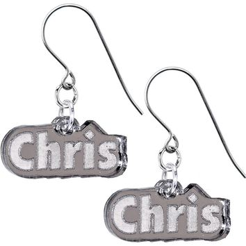 Handcrafted Custom No 3  Lucite Personalized Earrings