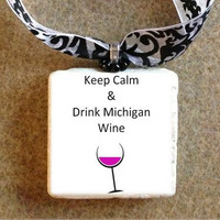 Traverse City Wine Bottle Charm / Decorative by TheRavagedBarn