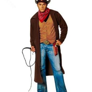 western cowboy costumes for adults cowboy halloween costume halloween cosplay clothing for men Raiders of the Lost Ark costumes