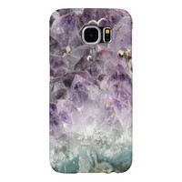 Faux amethyst crystal geode gemstone photo hipster