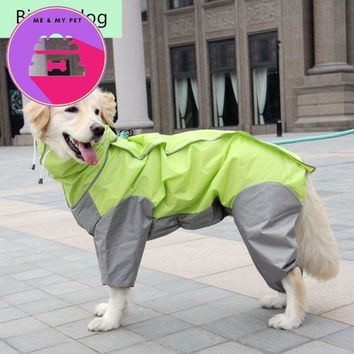 Big Dog Raincoat Waterproof Clothing Rain wear Jumpsuit for Golden Retriever