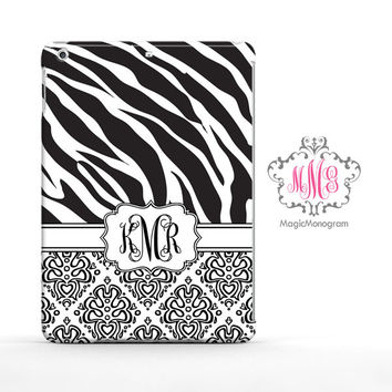 Zebra Loopy Damask iPad Air Case, iPad Mini Case