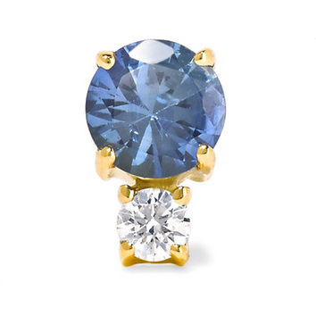 Jemma Wynne - 18-karat gold, sapphire and diamond earring
