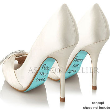 Custom hand painted And They Lived Happily Ever After heels
