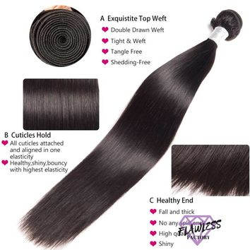 Brazilian Silky Straight Remy Hair Extensions 1PC