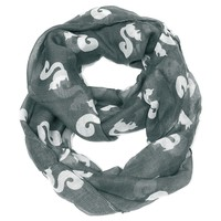 Squirrel Infinity Scarf- Gray