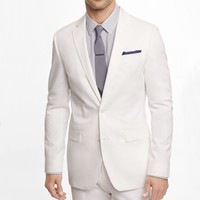 WHITE COTTON SATEEN PHOTOGRAPHER SUIT JACKET