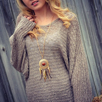 Sugarland Mocha Oversized Sweater