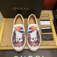 GUCCI Men Flats Leather Sneakers Sport Shoes Boots Shoes Best Quality
