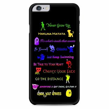 12 Disney Lessons iPhone 6 Plus / 6s Plus Case