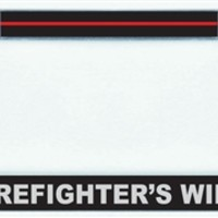 Firefighter's Wife License Plate Frame - Chrome