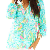 Elsa Silk Top - You Gotta Regatta | 41773999PY3 | Lilly Pulitzer