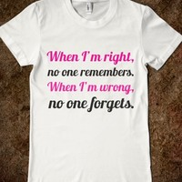 What Happens When I'm Right Or Wrong