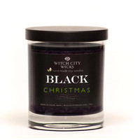 BLACK Christmas limited edition soy candle jar, gothic christmas candle
