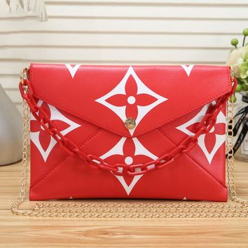 Louis Vuitton LV Fashion Women Leather Shopping Bag Crossbody Satchel Shoulder Bag Red