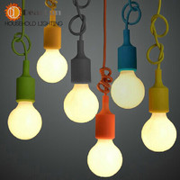 Colorful Pendant Lamp Modern Vintage Bar Restaurant Bedrooms Large Shopping Mall Muuto E27 Art Pendant Light(DO-57)