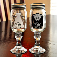 Redneck Wedding Wine Glasses