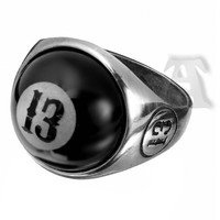High Eight Ball Ring