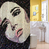 mosaic art shower curtain