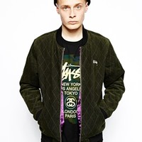 Stussy Quilted Varsity Jacket at asos.com