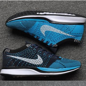 NIKE Women Men Running Sport Casual Suspension movement Shoes Sneakers Blue