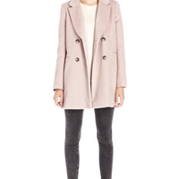 Coats & Jackets | Pink DRAWN FINISH SWING COAT  | Warehouse