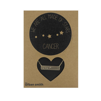 WE ARE ALL MADE OF STARS CONSTELLATION NECKLACE  - CANCER
