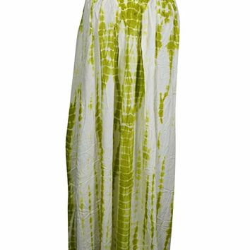 Mogul Interior Cocktail Sleeveless Tie Dye Long Scoop Neck BohoChic Sundress L (Green): Amazon.ca: Clothing & Accessories