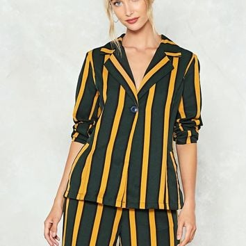 Hit the Stripe Note Blazer