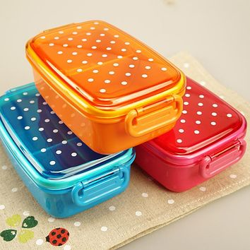 Plastic Children Lunch Boxs Cute Plastic Lunch Bento Box Food Container Office School