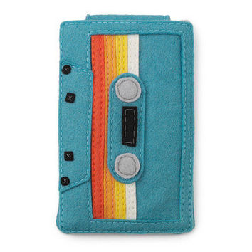 TEAL PHONE AND IPOD CASE | Pump up the volume with a flash of '80s cool with | UncommonGoods