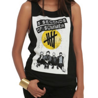 5 Seconds Of Summer XO Photo Girls Muscle Top