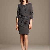 Ruched Gray Jersey Dress