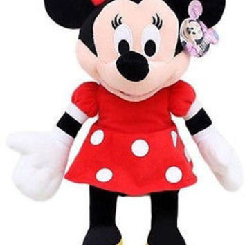 "DISNEY 17"" MINNIE MOUSE RED DRESS PLUSH TOY-LICENSED STUFFED TOY-DISNEY PLUSH"